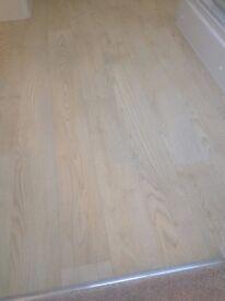 Cream Coloured Wood Effect Cushion Flooring