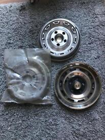 """16"""" wheelbtrims stainless steel"""