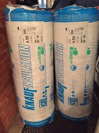 2 rolls of Knauf loft insulation