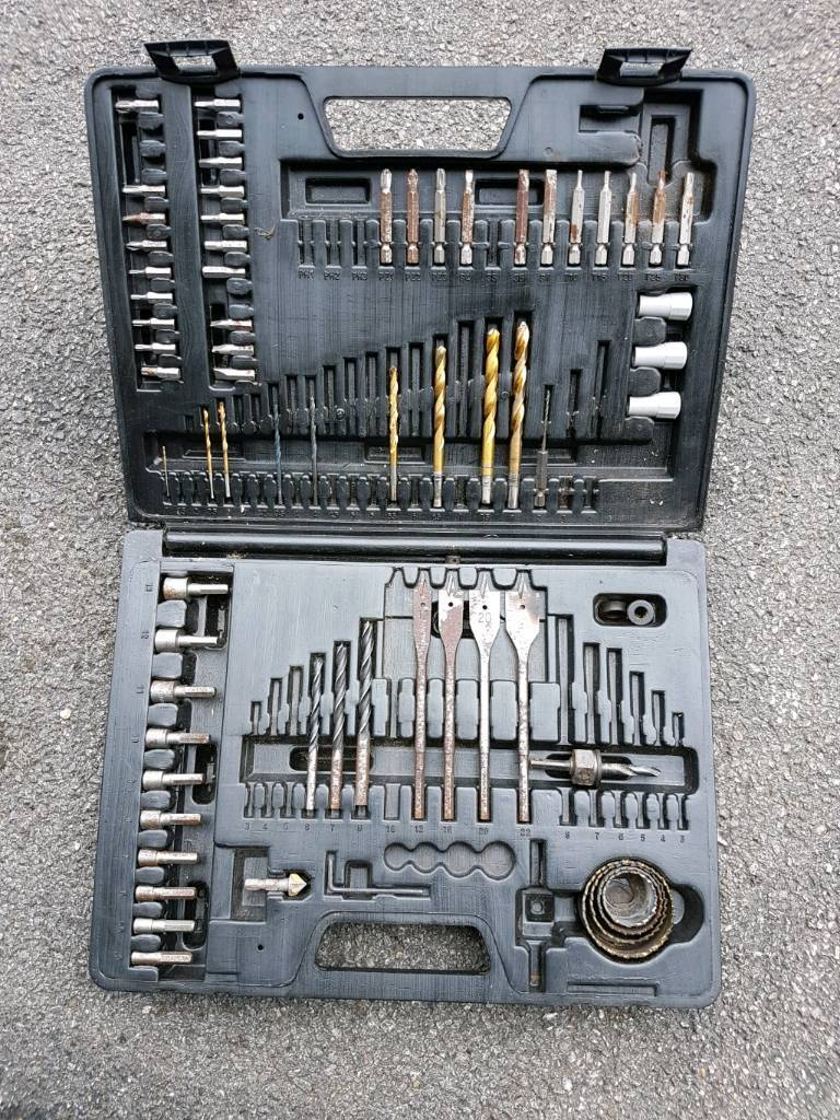 Case of drill bits