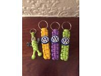VW Paracord Key Rings