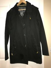 Men's Superdry Black Raincoat