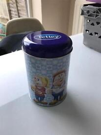 Tetley tea tin