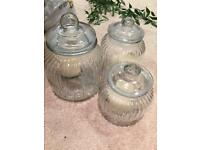 Glass jars for candles or swerts