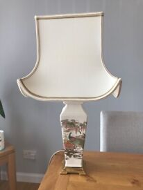 3 hand painted table lamps from John Lewis.