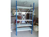 Heavy duty metal shelving unit 2m x 990 x 400 hardly used.