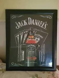 Jack Daniels framed picture 'jacks are better'