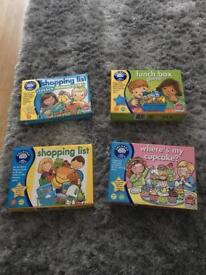 Orchard toys games x4