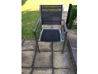 4 metal framed garden chairs