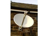 Broadband satellite dish. latest Ka band plus matching Gilat modem, and reuter