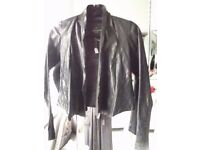 All Saints Ladies Black Leather Jacket
