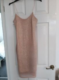 Salmon pinky shimer dress