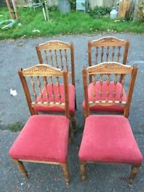 4 edwardian chairs for sale
