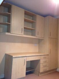 Kitchen or office units and work tops