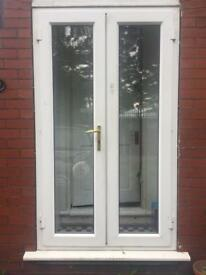 French doors and frame for sale