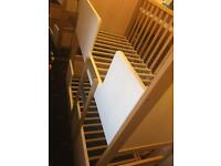 Bunk cot bed with mattresses size145/70