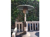 Outside gas table heater 3.5' high