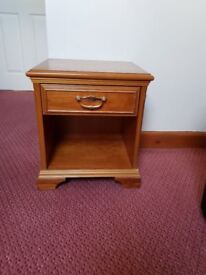 Pair of quality wood bedside tables
