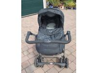 Luxury Silver Cross Linear Freeway Pram and Pushchair combined . Charcoal in colour.