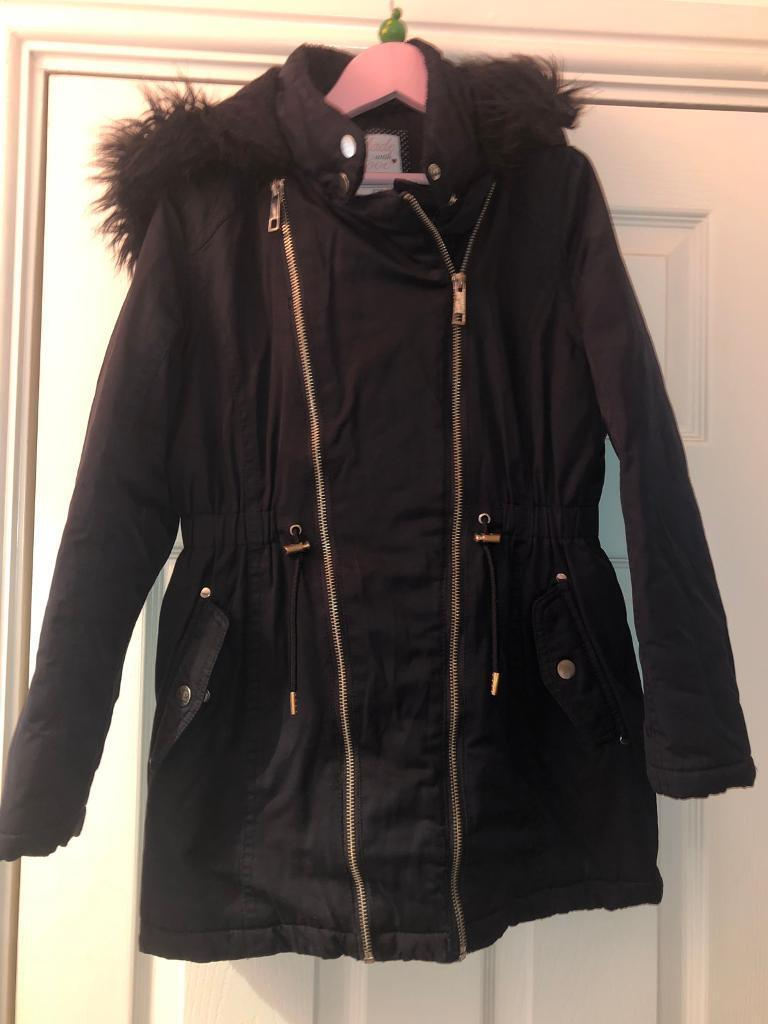 f89b199b4b47 Girls age 10-11 Tesco navy coat