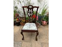 Wooden upholstered chairs x4
