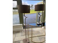 NEW brown standing and table lamp