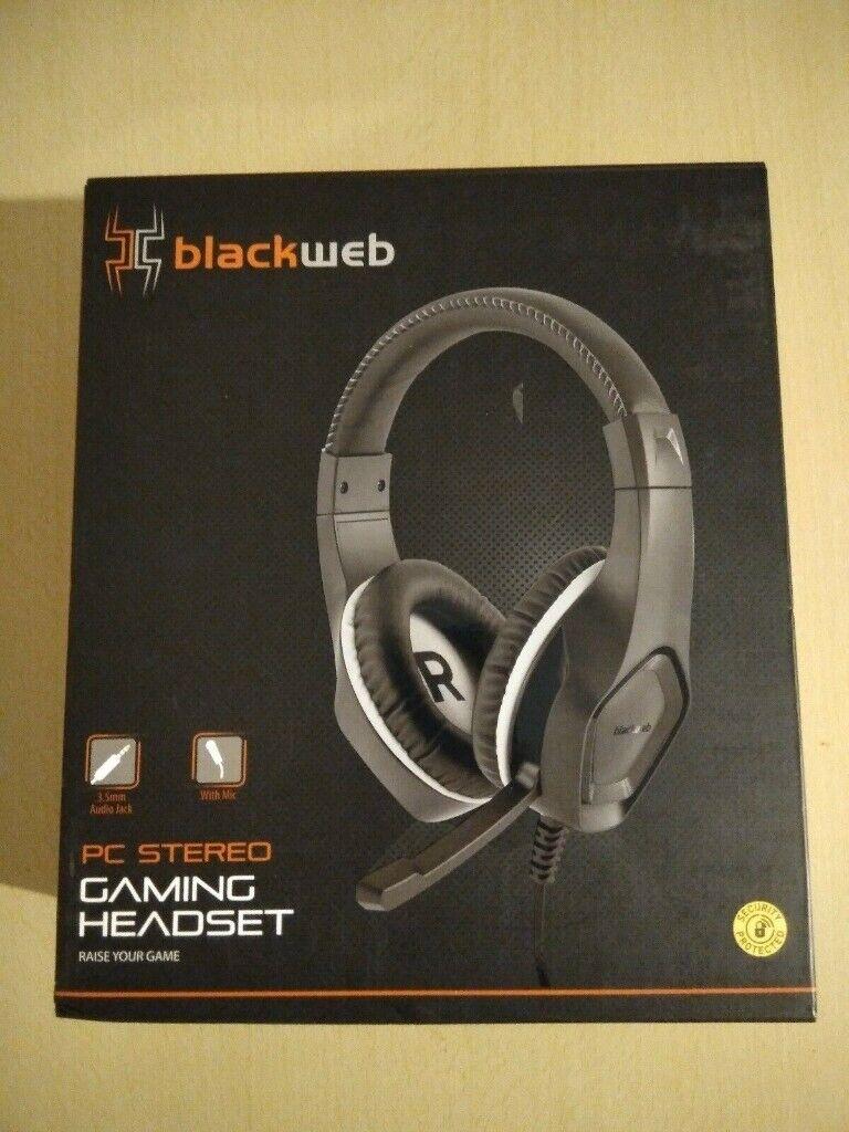 black web gaming headset | in Bournemouth, Dorset | Gumtree