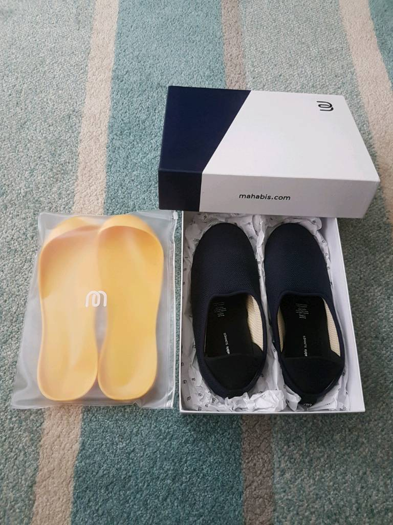 ** SORRY SOLD 25OCT **Mahabis Summer - Nora Navy - Skane yellow sole - Size EU 39 - UK 6