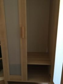 Wardrobe. IKEA Anedoba. Lightweight, useful hanging space, and shoe compartment. Buyer uplifts.