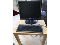 """Dell Computer Monitor 15"""" @ Labtec Keyboard"""