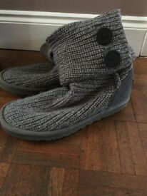 Genuine Uggs - Grey Slouch knit