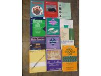 Music books for flute, mixed level, 14 books