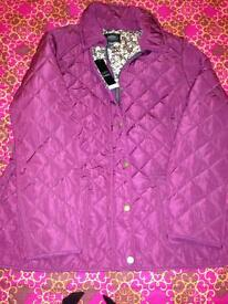 Burgundy padded women's jacket