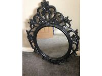 Ikea Ung Drill framed mirror, gothic style, 85cm high