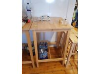 2 x tall IKEA table and chairs