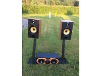 Speakers bandw with amp