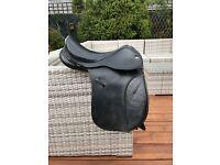 "Black Leather GP Saddle 16"""