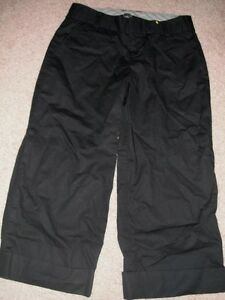 ladies-BLACK-CAPRI-PANTS-casual-studio-works-STRETCH-work-MODERN-size-2-XS-nice