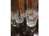 Five Waterford crystal Lismore cut Tumblers
