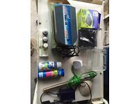 Job lot off fish tank equipment