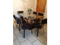 bespoke dining table with 6 chairs available from next Monday 12 th February