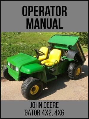 John Deere 4x2 6x4 Gator Utility Vehicle Operators Manual Omm136970 On Usb