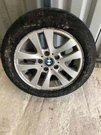 3 series BMW alloy wheel with tyre
