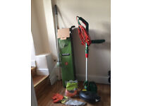 Qualcast Corded Grass Trimmer 600W + 10m cable + rake