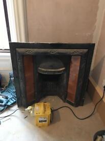 Cast Antique Fireplace