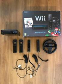 Nintendo Wii MarioKart Pack (boxed) with games and accessories