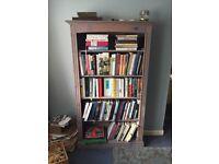 Blue teal bookshelf