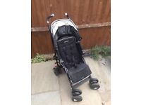 Maclaren techno XT pushchair - good condition with rain cover and foot muff.