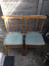 Pair of Vintage Retro Dining Chairs