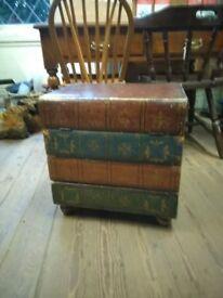 Vintage books storage box